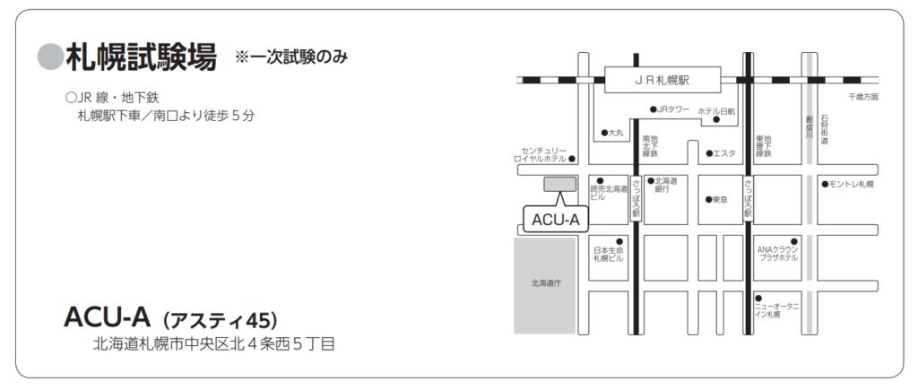 東北医科薬科大学:札幌試験場